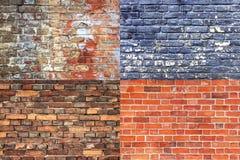Vecchia raccolta incrinata di struttura del muro di mattoni Fotografie Stock Libere da Diritti
