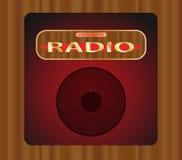 Vecchia radio del transistore Immagini Stock