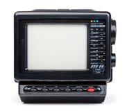 Vecchia radio e televisore tenuti in mano isolato Fotografia Stock