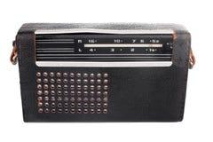 Vecchia radio sovietica portatile nel caso di cuoio immagine stock libera da diritti