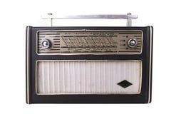 Vecchia radio su bianco Fotografia Stock Libera da Diritti