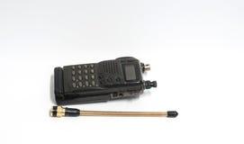 Vecchia radio su fondo bianco Fotografia Stock