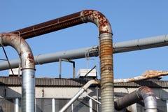 Vecchia raffineria Immagini Stock Libere da Diritti