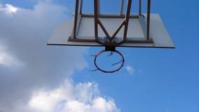 Vecchia rete di pallacanestro Fotografia Stock