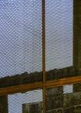 Vecchia rete fissa arrugginita Fotografia Stock