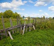 Vecchia rete fissa di legno Fotografia Stock Libera da Diritti