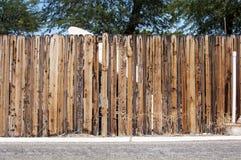 Vecchia rete fissa di legno Immagine Stock
