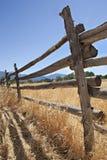 Vecchia rete fissa di legno nell'ovest americano Immagine Stock Libera da Diritti