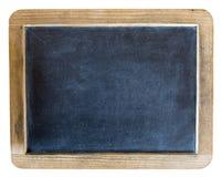 Vecchia retro ardesia d'annata della lavagna della scuola isolata Fotografia Stock