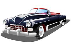 Vecchia retro automobile su fondo bianco Fotografia Stock Libera da Diritti