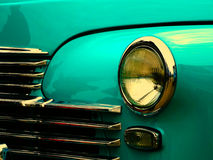 Vecchia retro automobile sulla mostra Fotografia Stock