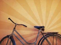 Vecchia retro bici Immagini Stock