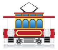 Vecchia retro illustrazione di vettore del tram Fotografia Stock