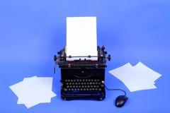 Vecchia retro macchina da scrivere fotografie stock