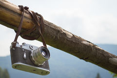 Vecchia retro macchina fotografica Fotografie Stock Libere da Diritti