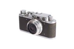 Vecchia retro macchina fotografica del telemetro dell'annata Immagini Stock Libere da Diritti