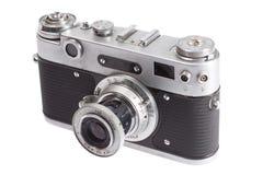 Vecchia retro macchina fotografica del telemetro dell'annata Fotografia Stock Libera da Diritti