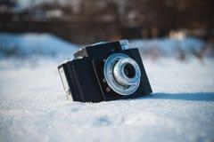 Vecchia retro macchina fotografica sovietica fotografie stock libere da diritti