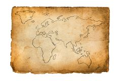 Vecchia retro mappa Fotografie Stock