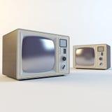 Vecchia retro TV Fotografia Stock