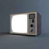 Vecchia retro TV Immagine Stock Libera da Diritti