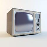 Vecchia retro TV Fotografia Stock Libera da Diritti