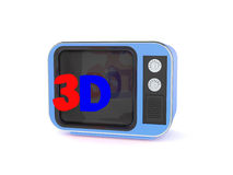 Vecchia retro TV 3d Fotografia Stock