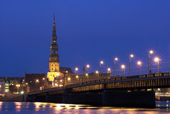Vecchia Riga fotografie stock