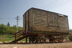 Vecchia riga del treno di Cairo Damasco Immagini Stock Libere da Diritti