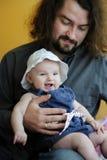 Vecchia risata di tre mesi della neonata Fotografie Stock Libere da Diritti