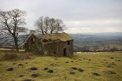 Vecchia rovina della casa dell'azienda agricola Fotografia Stock