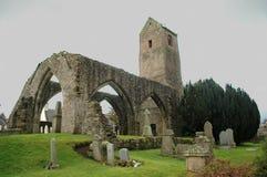 Vecchia rovina della chiesa di Muthill, Scozia fotografia stock