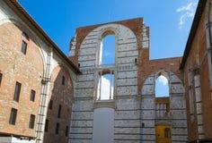 Vecchia rovina della parete Siena, Italia Immagine Stock Libera da Diritti