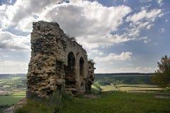 Vecchia rovina Kunitz del castello fotografie stock