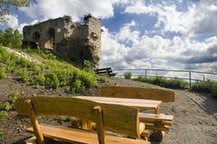 Vecchia rovina Kunitz del castello fotografia stock libera da diritti