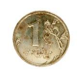 Vecchia rublo russa Immagine Stock