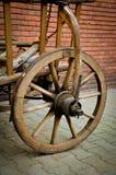 Vecchia ruota del carretto Immagine Stock