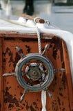 Vecchia ruota della barca Immagini Stock Libere da Diritti