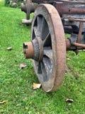 Vecchia ruota di legno Fotografia Stock