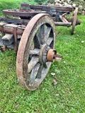 Vecchia ruota di legno Immagine Stock Libera da Diritti