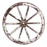 Vecchia ruota del carrello Immagini Stock