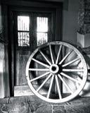 Vecchia ruota di vagone Fotografie Stock Libere da Diritti