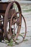 Vecchia ruota per l'ingranaggio di agricoltura Immagine Stock