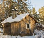 Vecchia sauna Immagini Stock