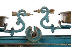 Vecchia scala con due ciotole Fotografia Stock Libera da Diritti