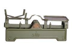 Vecchia scala d'annata verde Fotografia Stock