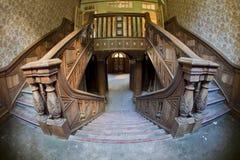 Vecchia scala del palazzo Fotografia Stock