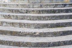 Vecchia scala di calcestruzzo di struttura Fotografia Stock