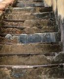 Vecchia scala di pietra Fotografia Stock