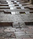 Vecchia scala di pietra Immagini Stock